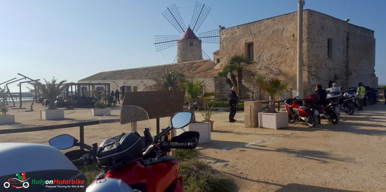 A mill from our classic motorcycle tour of Sicily
