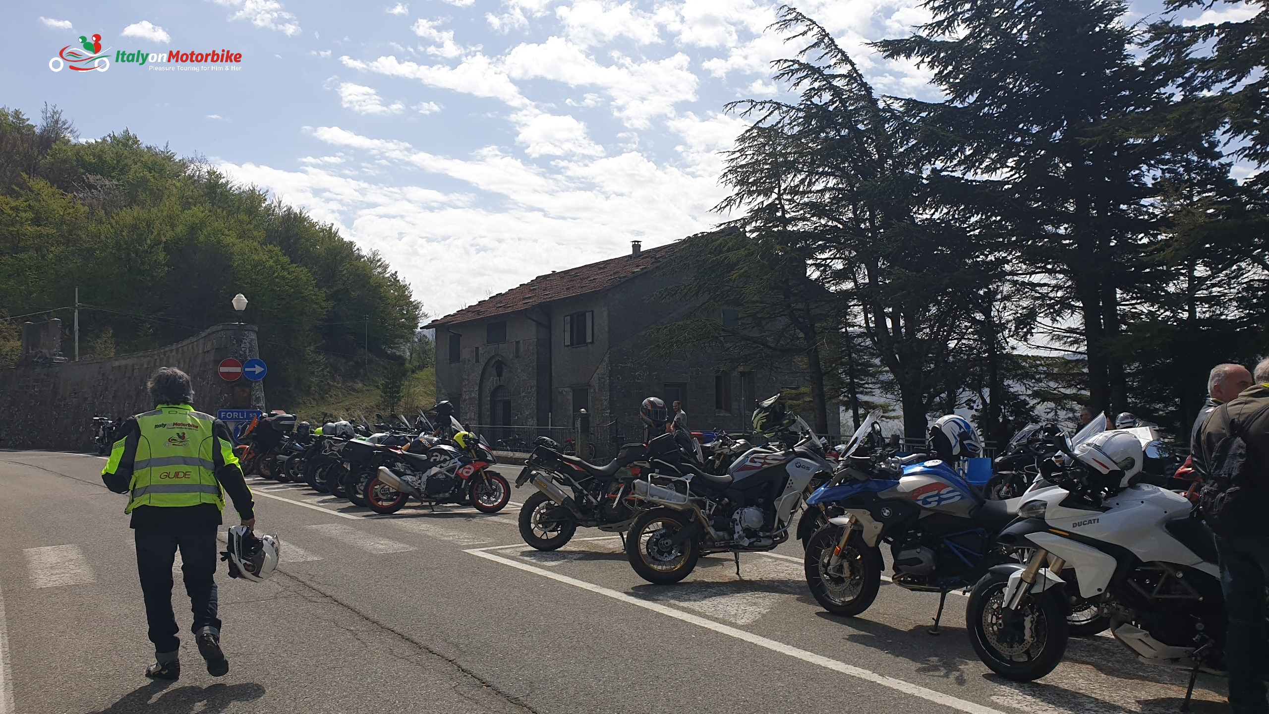 A selection of rented motorcycles in Tuscany Italy