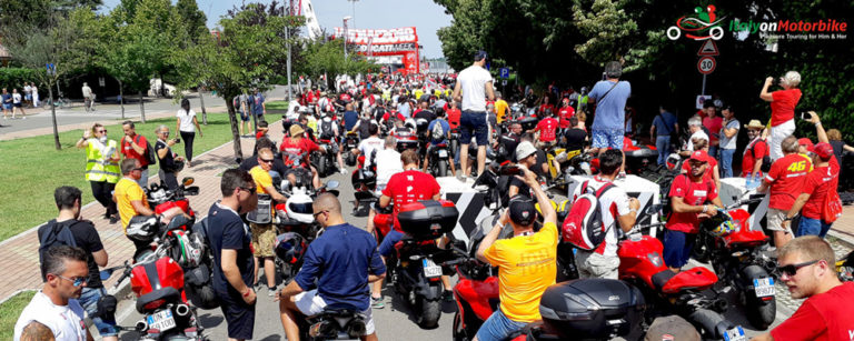 The entrance of the Misano track on our Guided motorcycle tour World Ducati Week