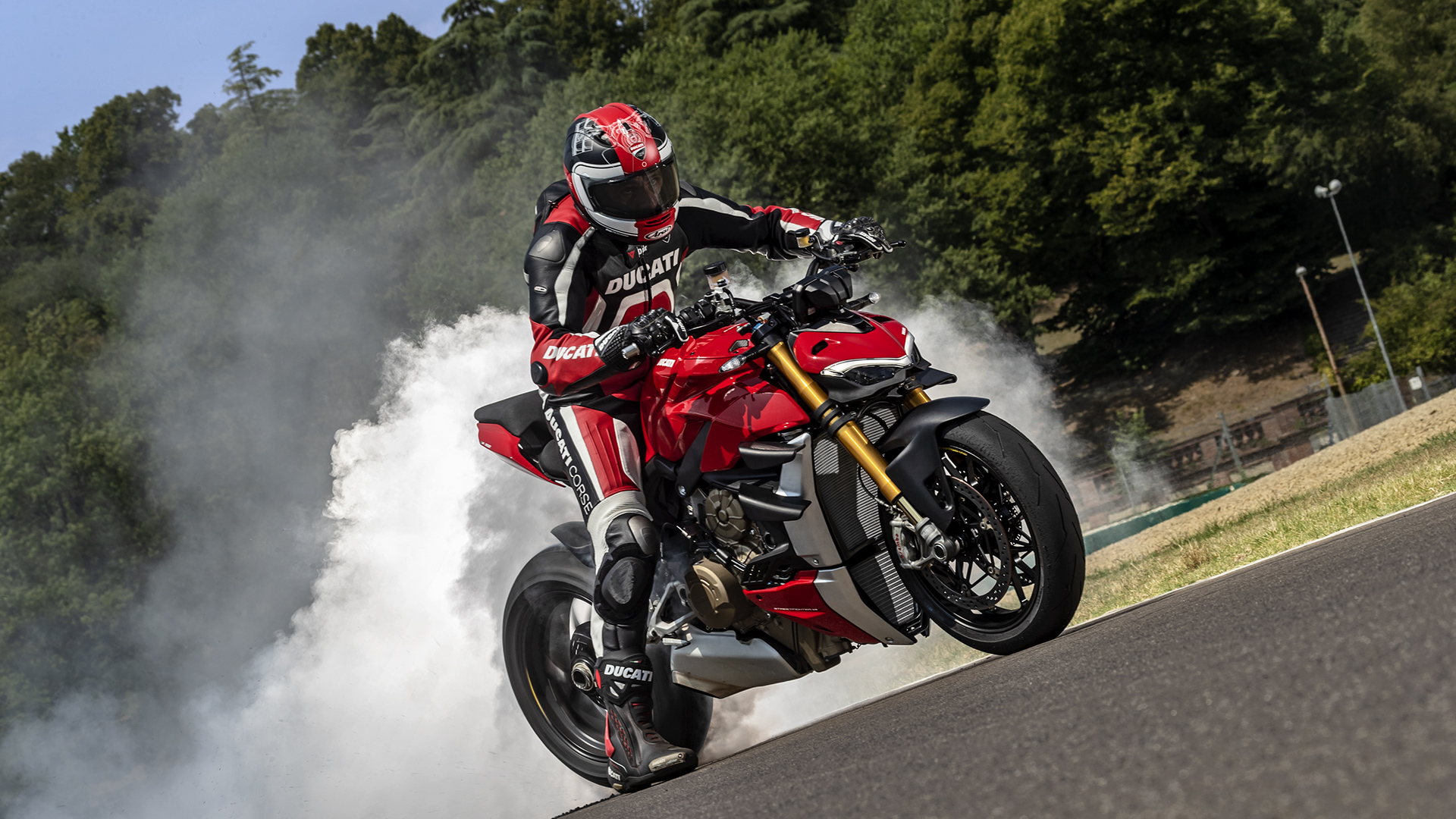 The Ducati Streetfighter V4 available as a motorbike rental